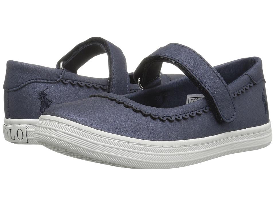 Polo Ralph Lauren Kids Pella (Toddler) (Navy Shimmer) Girl's Shoes