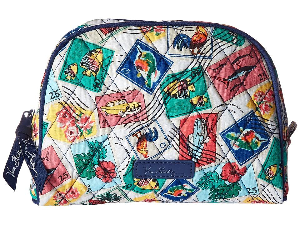 Vera Bradley Luggage Medium Zip Cosmetic (Cuban Stamps) Luggage
