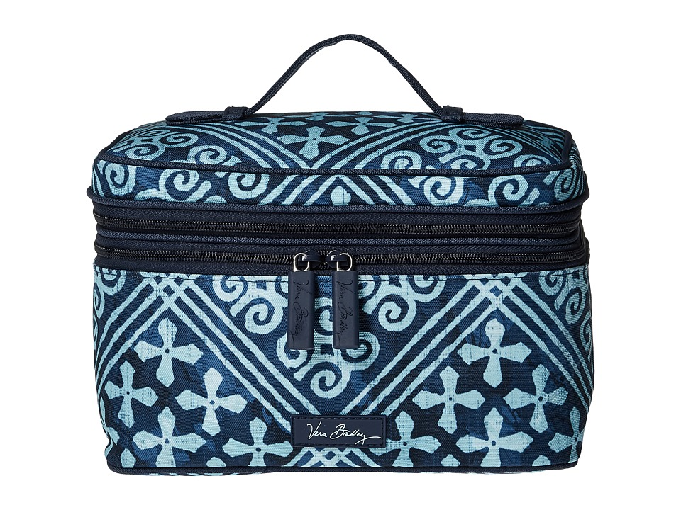 Vera Bradley Luggage Lighten Up Brush Up Cosmetic Case (Cuban Tiles) Cosmetic Case