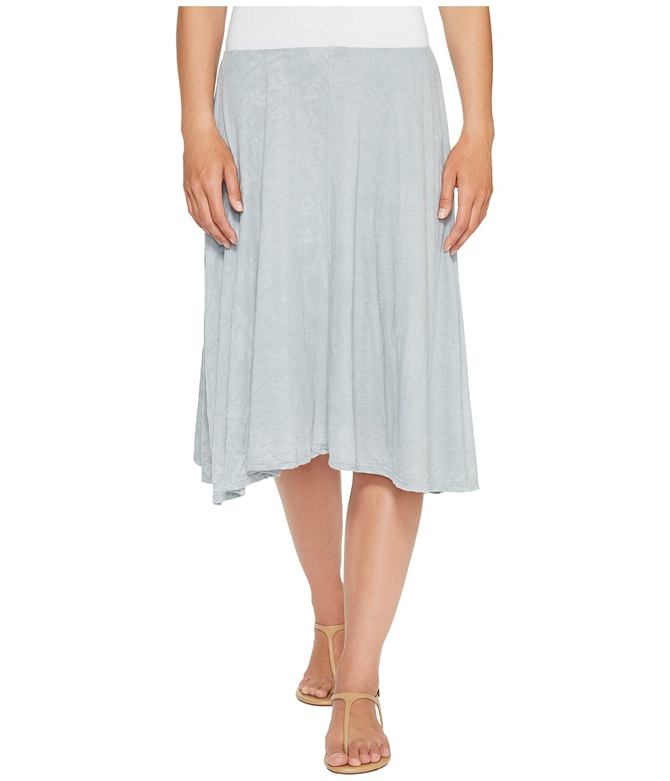 Mod-o-doc Patchwork Burnout Jersey Swing Skirt with Lining (Sterling) Women