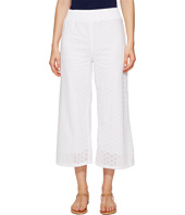 Mod-o-doc - Cotton Eyelet Wide Leg Crop Pants