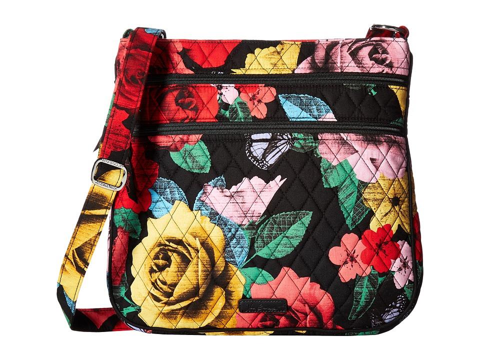 Vera Bradley Keep Charged Triple Zip Hipster Havana Rose Handbags