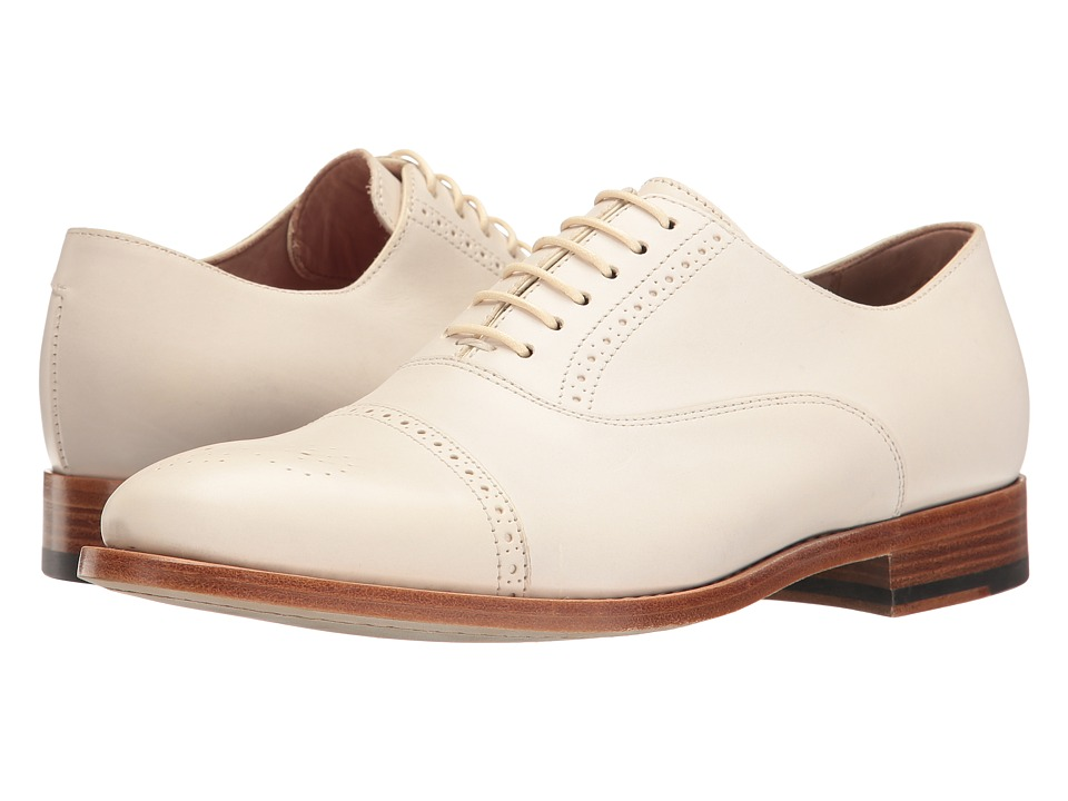 Rockabilly Men's Clothing Paul Smith - Bertie Oxford Off-White Womens Lace up casual Shoes $495.00 AT vintagedancer.com