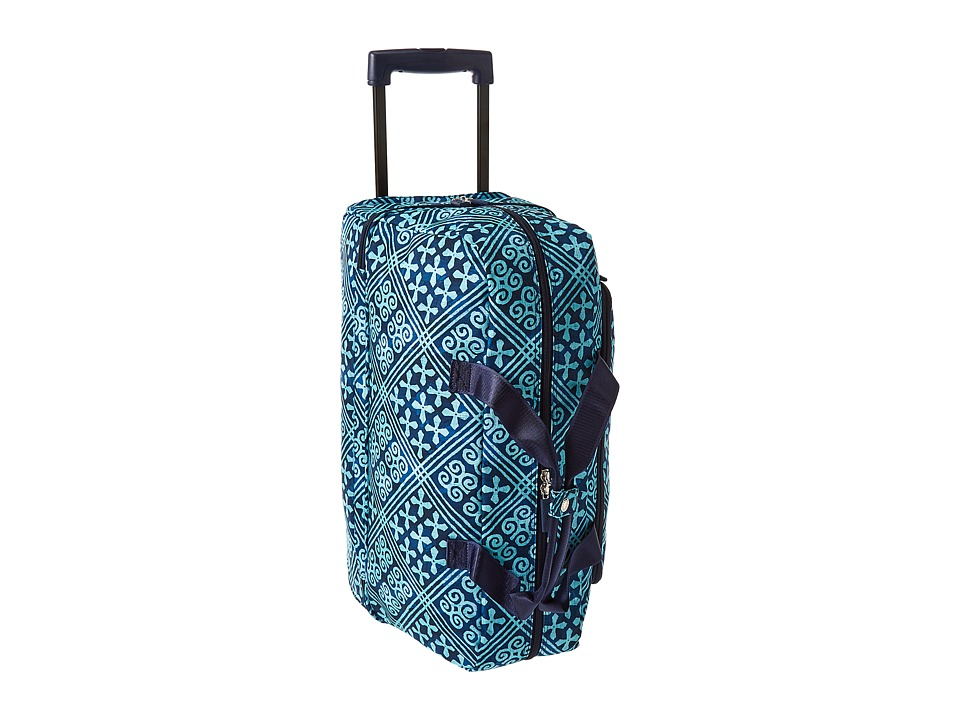 Vera Bradley Luggage Lighten Up Wheeled Carry On (Cuban Tiles) Carry on Luggage
