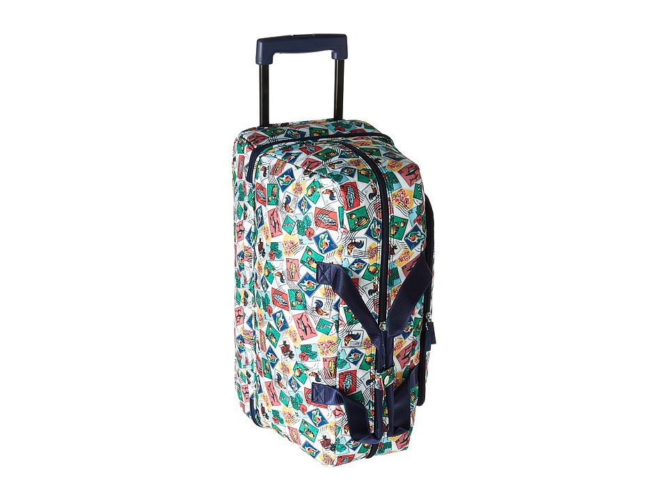 Vera Bradley Luggage Lighten Up Wheeled Carry On (Cuban Stamps) Carry on Luggage