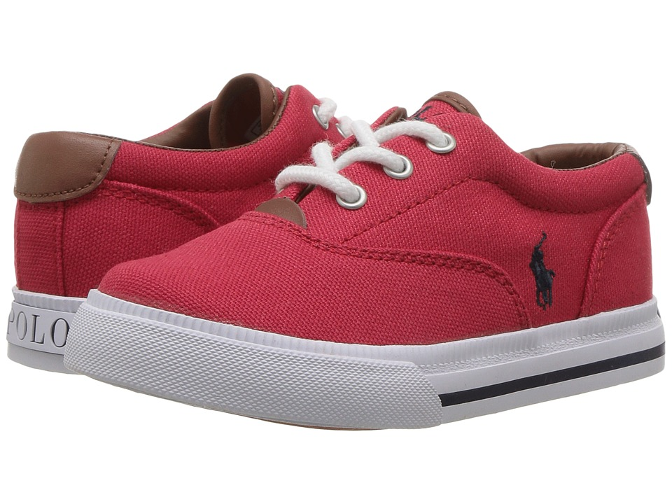 Polo Ralph Lauren Kids - Vaughn II (Toddler) (Red Canvas/Navy PP) Kids Shoes