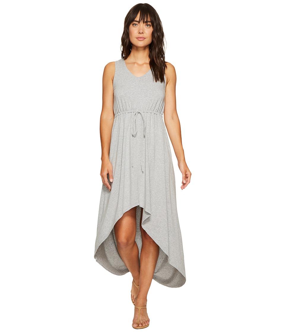 Mod-o-doc Cotton Modal Spandex Jersey Cinch Waist Hi-Low Hem Tank Dress (Smoke Heather) Women