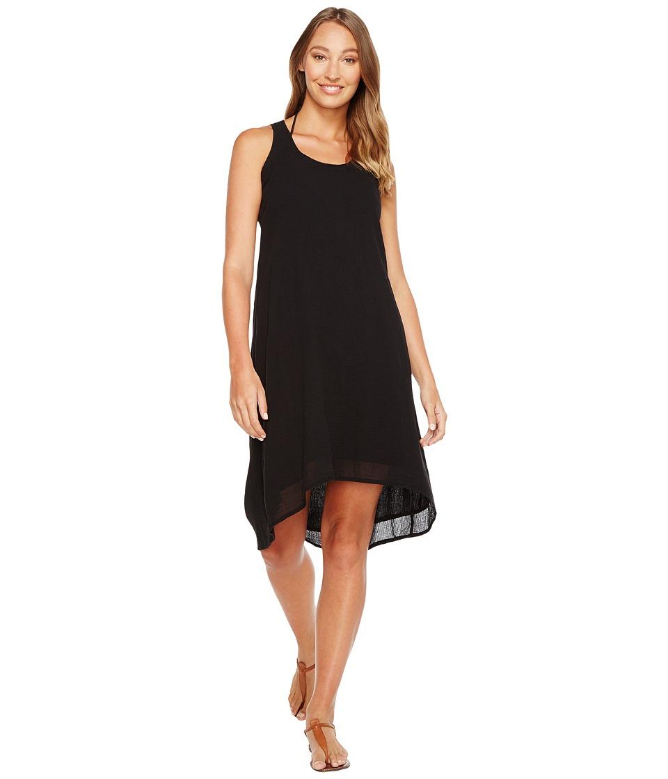 Mod-o-doc Gauze Crochet Back Tank Dress/Cover-Up (Black) Women
