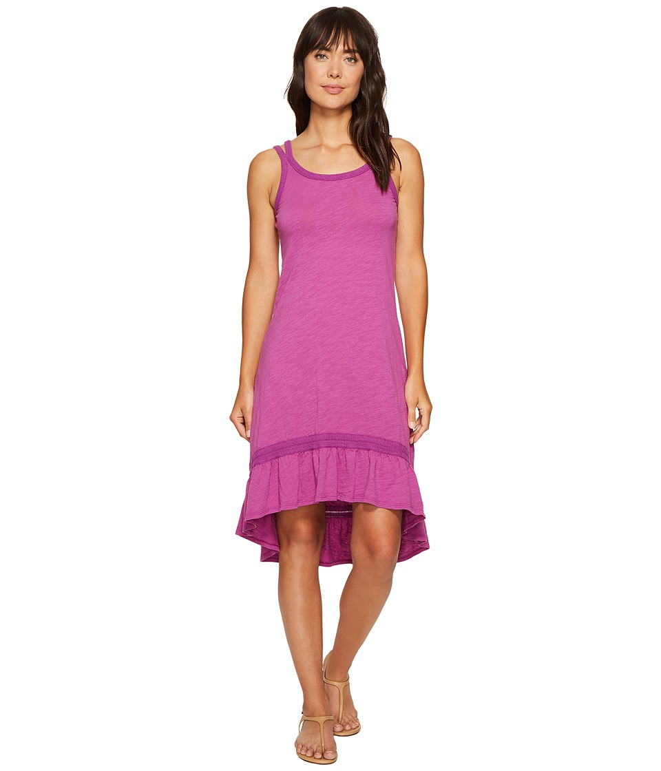 Mod-o-doc Slub Jersey Hi-Low Strappy Dress (Aster) Women