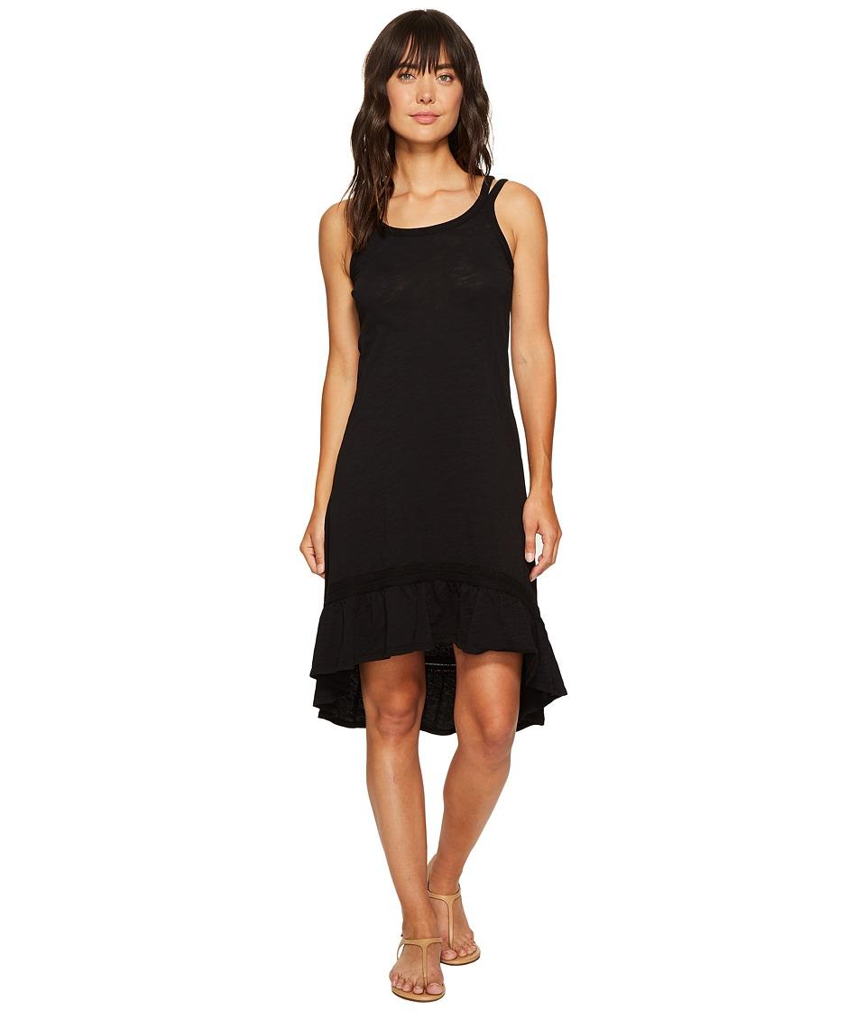 Mod-o-doc Slub Jersey Hi-Low Strappy Dress (Black) Women