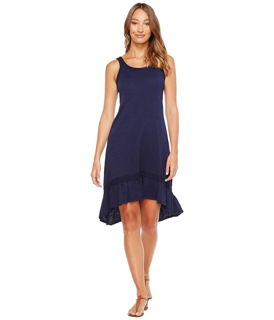 Mod-o-doc Slub Jersey Hi-Low Strappy Dress (True Navy) Women