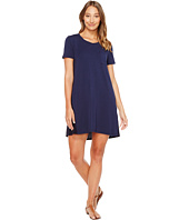 Mod-o-doc - Cotton Modal Spandex Jersey T-Shirt Dress with Back Contrast