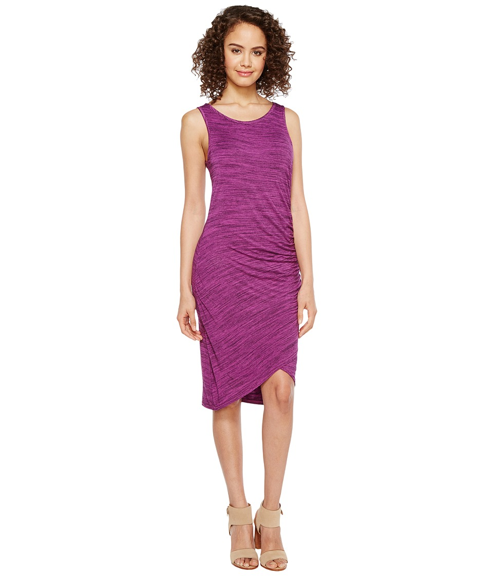 Mod-o-doc Space Dye Rayon Spandex Jersey Asymmetrical Shirred Tank Dress (Aster) Women