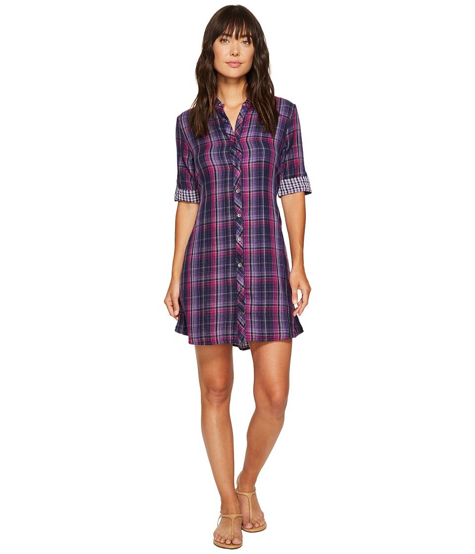 Double shirt dress design - Mod O Doc Double Sided Plaid Tab Sleeve Shirtdress