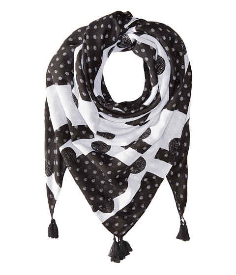 Vera Bradley Square Scarf - Black/White Dots