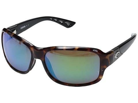 Costa Inlet 580 Plastic - Retro Tortoise/Black Temples Frame/Green Mirror Glass W580