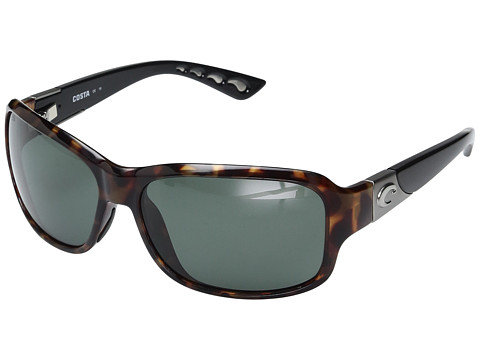 Costa Inlet 580 Plastic - Retro Tortoise/Black Temples Frame/Gray Glass W580