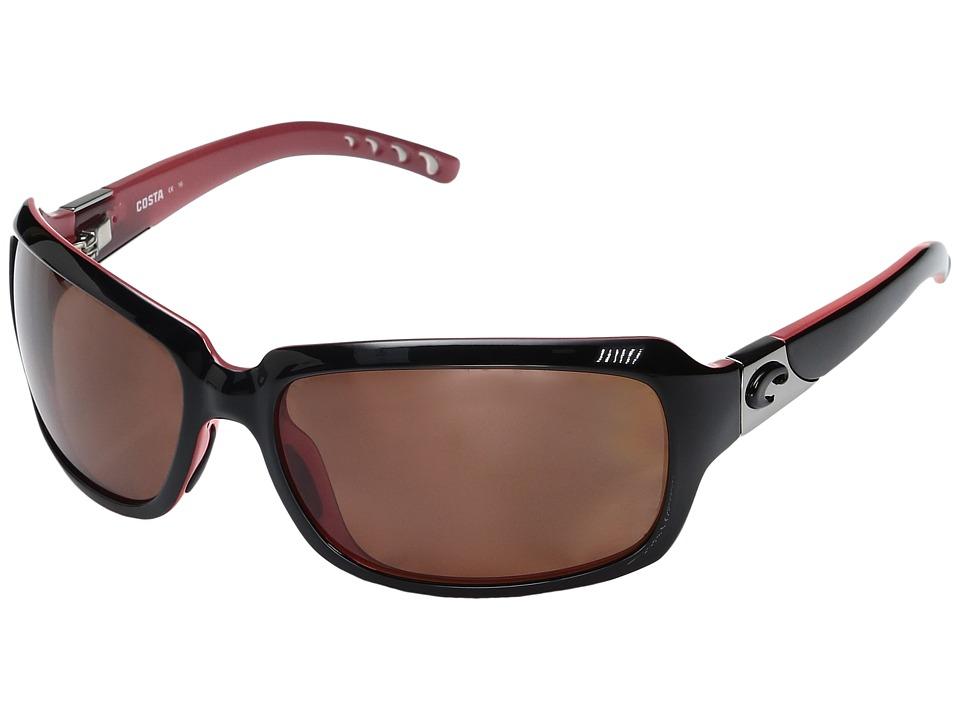 Costa Isabela (Black/Coral Frame/Copper 580P) Fashion Sun...