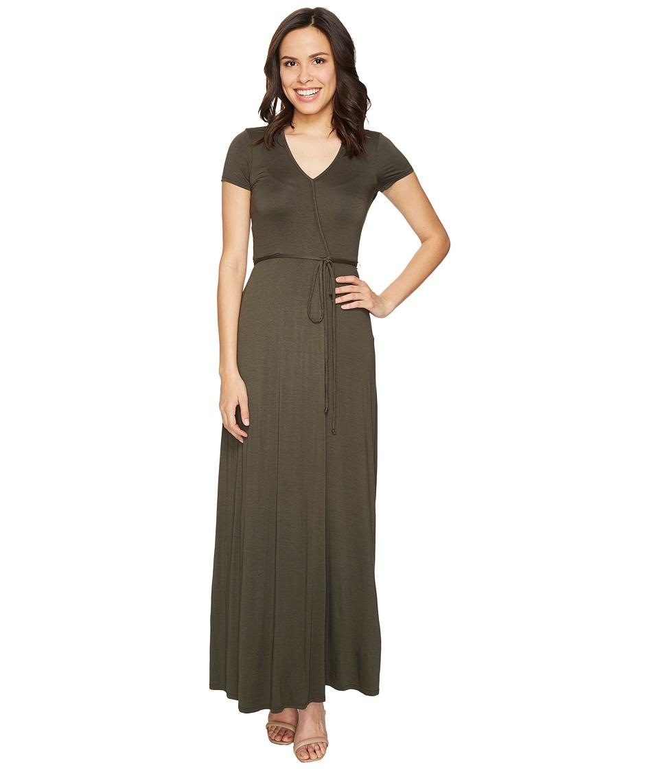 Three Dots Wrap Dress (Tapenade) Women