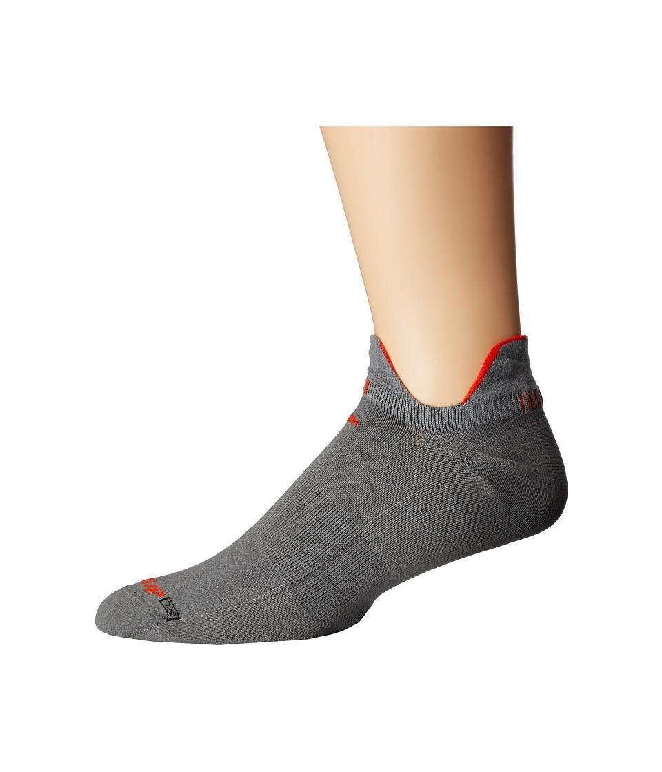 Drymax Sport - Triathlete Double Tab 1-Pair Pack (Anthracite/Orange) No Show Socks Shoes