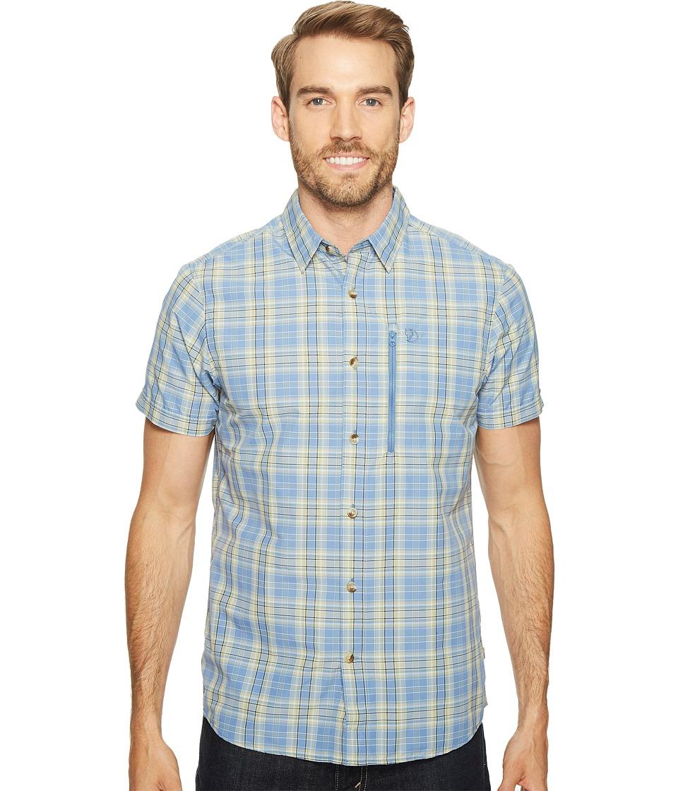 Fjallraven - Abisko Hike Shirt Short Sleeve (Blue Ridge) Mens Clothing