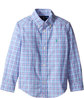 Polo Ralph Lauren Kids - 50S Yarn-Dyed Poplin Long Sleeve Button Down Shirt (Toddler)