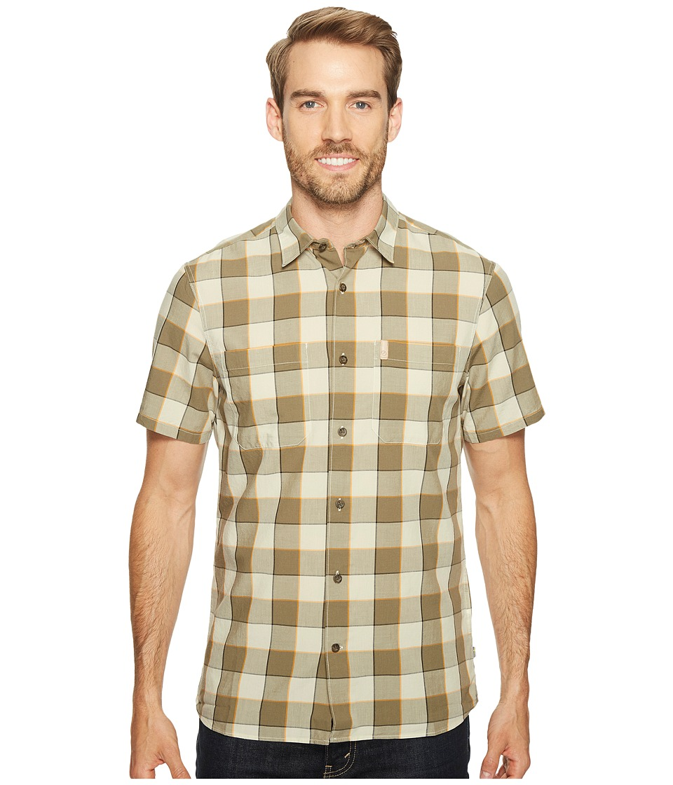 Fjallraven - High Coast Big Check Shirt Short Sleeve (Chalk White) Mens Short Sleeve Button Up