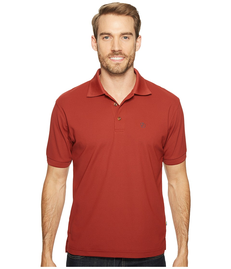Fjallraven - Crowley Pique Shirt (Deep Red) Mens Short Sleeve Pullover