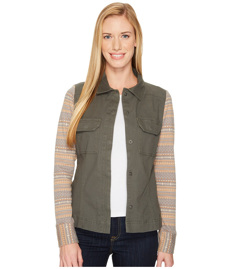 Columbia Aspen Lodge Shirt Jacket (Gravel/Chalk Jacquard) Women