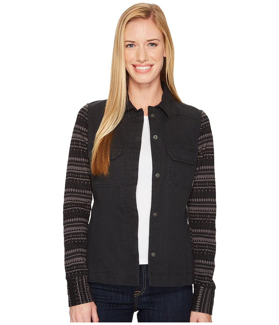 Columbia Aspen Lodge Shirt Jacket (Black/Black Jacquard) Women