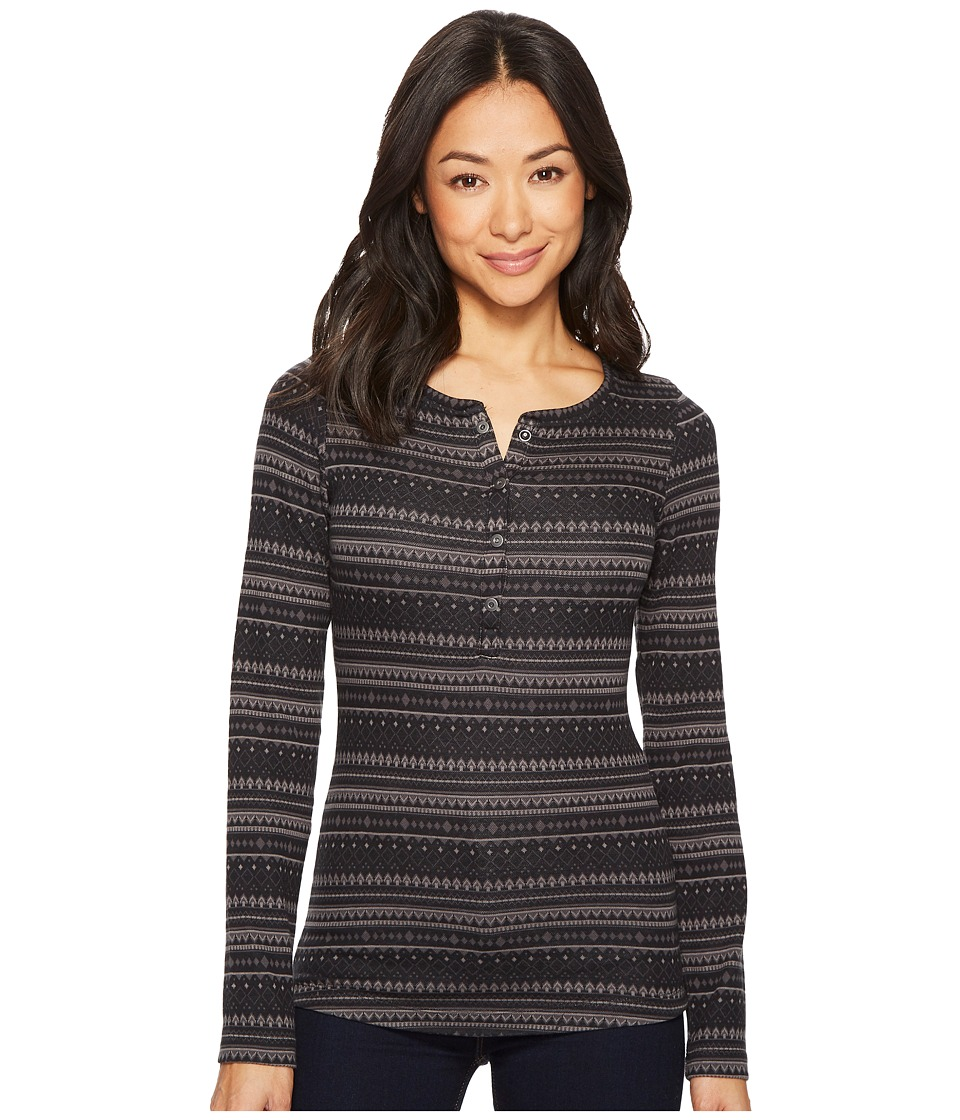 Columbia Aspen Lodge Jacquard Henley (Black Jacquard 1) Women
