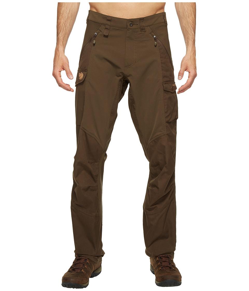 Fjallraven - Abisko Trousers (Dark Olive) Mens Casual Pants
