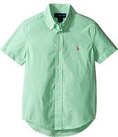 Polo Ralph Lauren Kids - Poplin Short Sleeve Button Down Shirt (Little Kids/Big Kids)