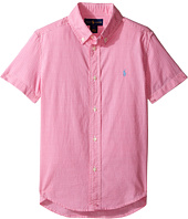 Polo Ralph Lauren Kids - Poplin Short Sleeve Button Down Shirt (Little Kids/Big Kids)