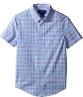 Polo Ralph Lauren Kids - Yarn-Dyed Poplin Short Sleeve Button Down Shirt (Little Kids/Big Kids)