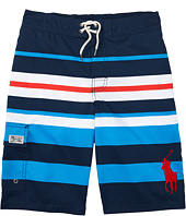 Polo Ralph Lauren Kids - Printed Poly Kailua Trunk Boardshorts (Big Kids)