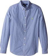 Polo Ralph Lauren Kids - Poplin Long Sleeve Button Down Shirt (Big Kids)