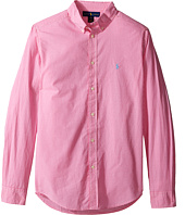 Polo Ralph Lauren Kids - Poplin Long Sleeve Button Down Shirt (Big Kids)