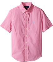 Polo Ralph Lauren Kids - Poplin Short Sleeve Button Down Shirt (Big Kids)