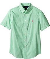 Polo Ralph Lauren Kids - Poplin Short Sleeve Button Down Shirt (Big Kids)