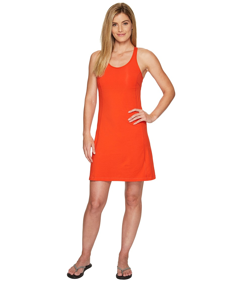 Fj llr ven High Coast Strap Dress (Flame Orange) Women