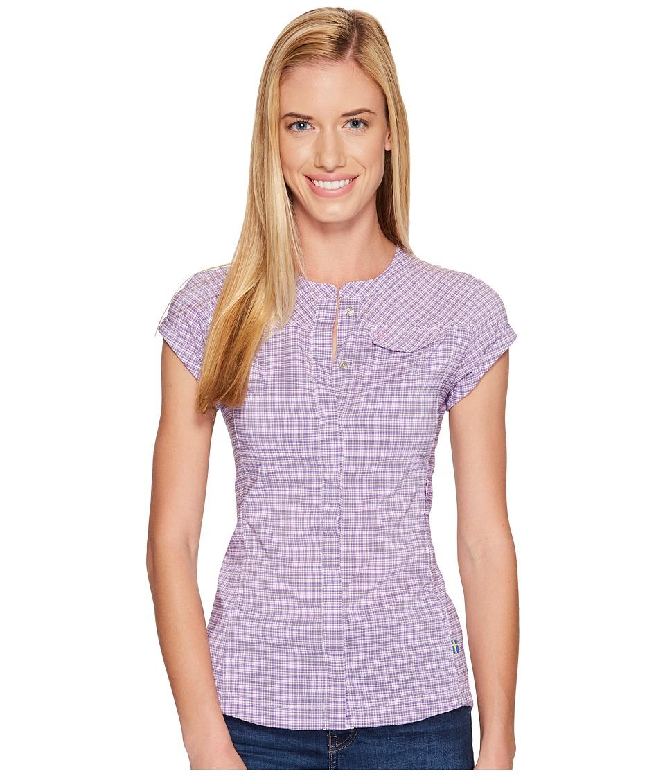 Fjallraven - Abisko Stretch Shirt Short Sleeve (Orchid) Womens Short Sleeve Button Up