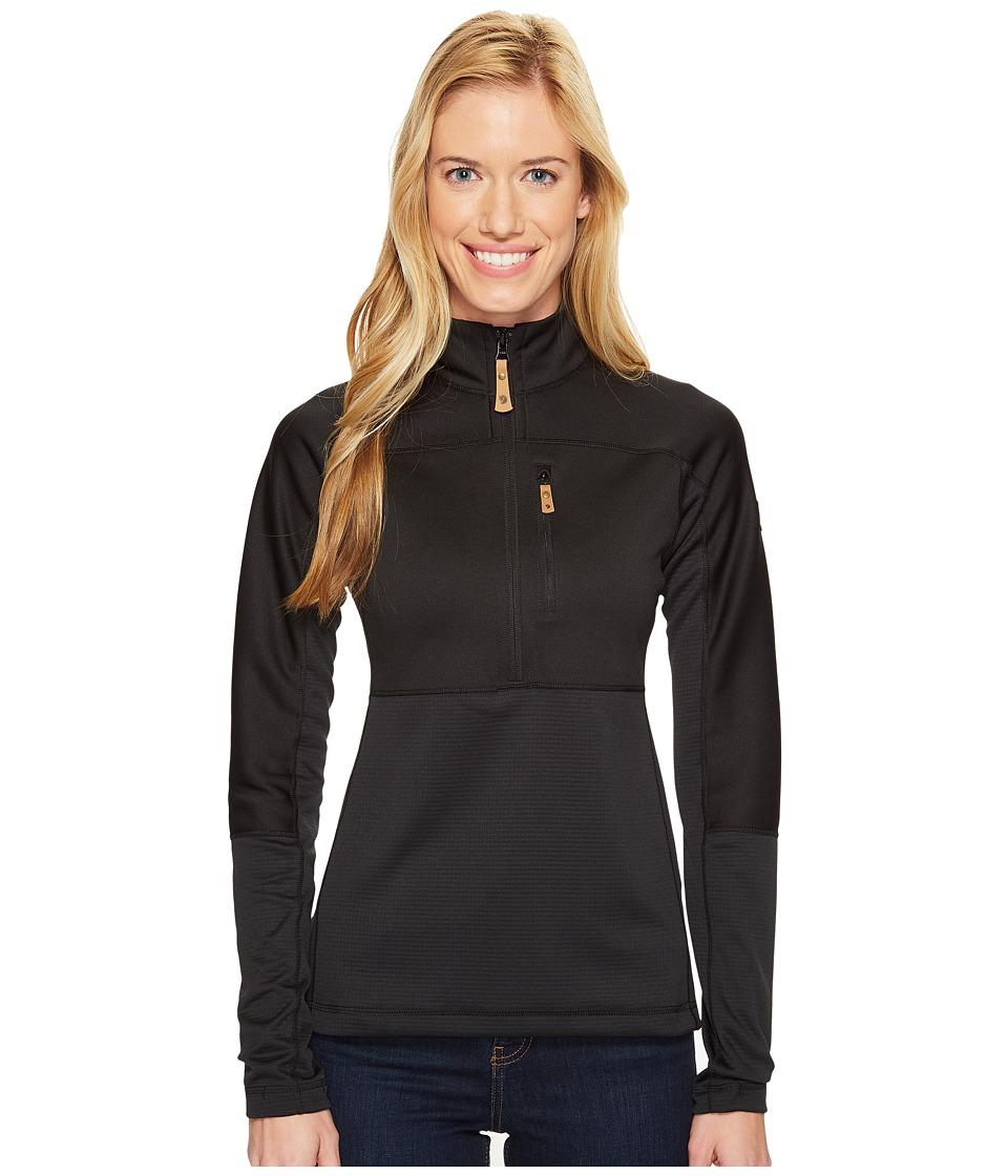 Fjallraven - Abisko Trail Pullover (Black) Womens Sweatshirt