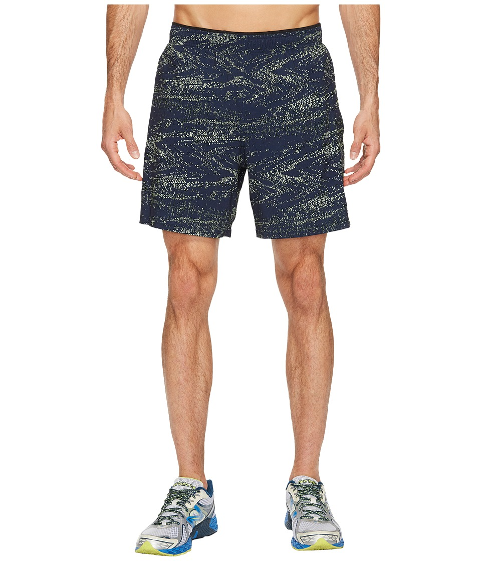 New Balance 2-in-1 Shorts Graphic (Pigment Interference Stripe/Energy Lime) Men