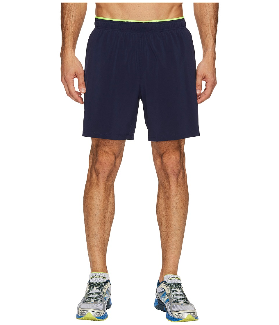 New Balance Woven 2-in-1 Shorts (Pigment/Energy Lime) Men