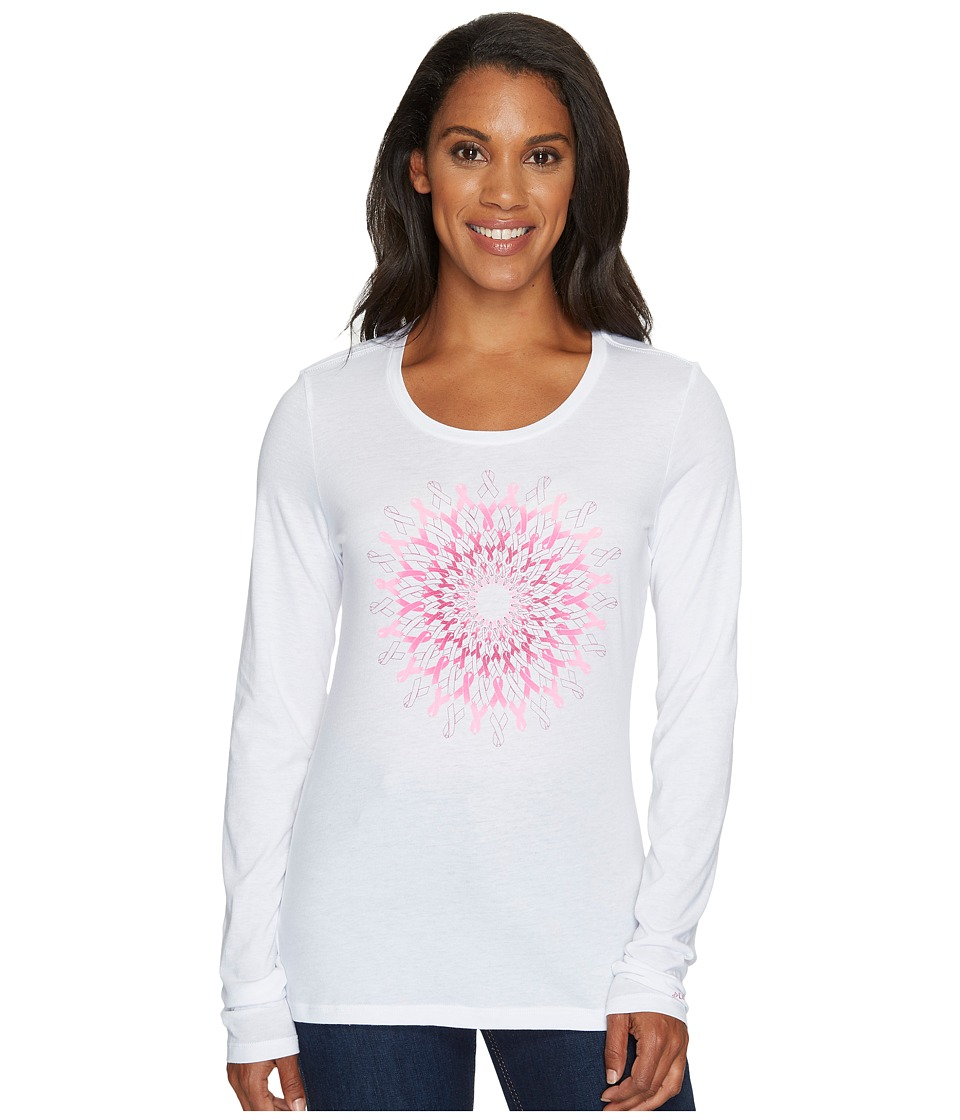 Columbia Tested Tough in Pink Medallion Long Sleeve Tee (White) Women