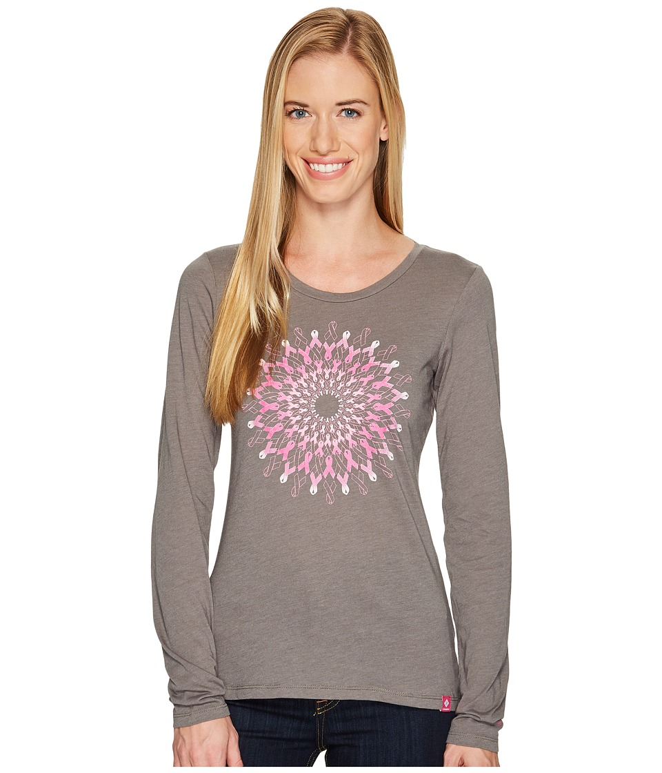 Columbia Tested Tough in Pink Medallion Long Sleeve Tee (Charcoal Heather) Women