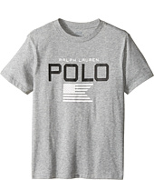 Polo Ralph Lauren Kids - Cotton Poly Graphic Crew Neck T-Shirt (Big Kids)