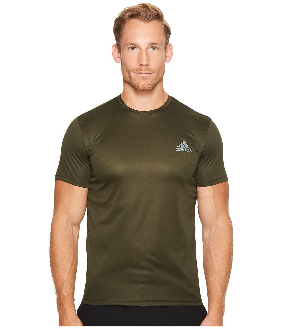 adidas Essential Tech Crew Tee (Night Cargo) Men