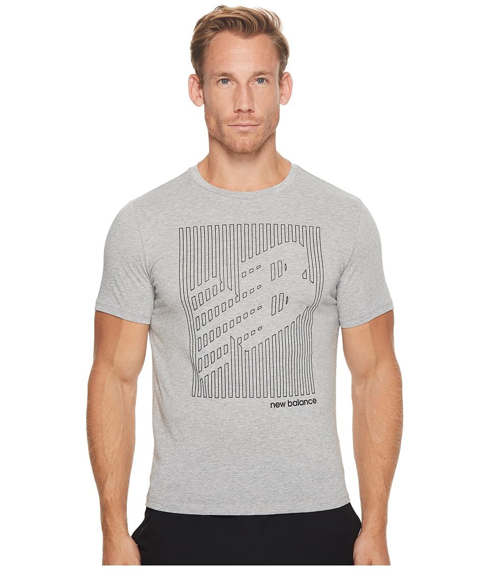 New Balance Heather Tech Short Sleeve NB Graphic (Athletic Grey) Men
